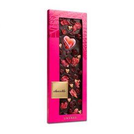 ChocoMe-Ciocolată neagră cu trandafir si inimioara 110g