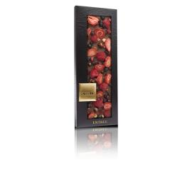 ChocoMe-Ciocolată cu lapte cu coacăze negre, zmeură și căpsună 110g